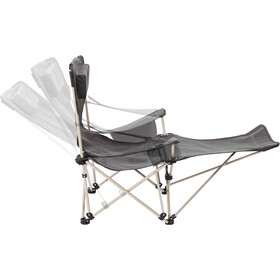 CAMPZ Lounger Folding Chair with Footrest anthracite
